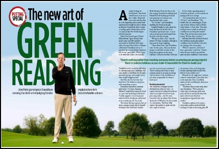 Mail: jamie@aimpointgolf.co.uk?subject=Article Request - The new Art of Green Readin&body=Dear Jamie, 